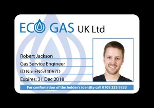 Sample Eco Gas ID Card Design