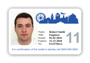 London Skyline Sample ID card