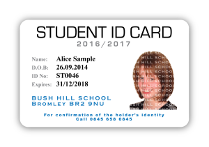Student ID Badge with Security Overlay
