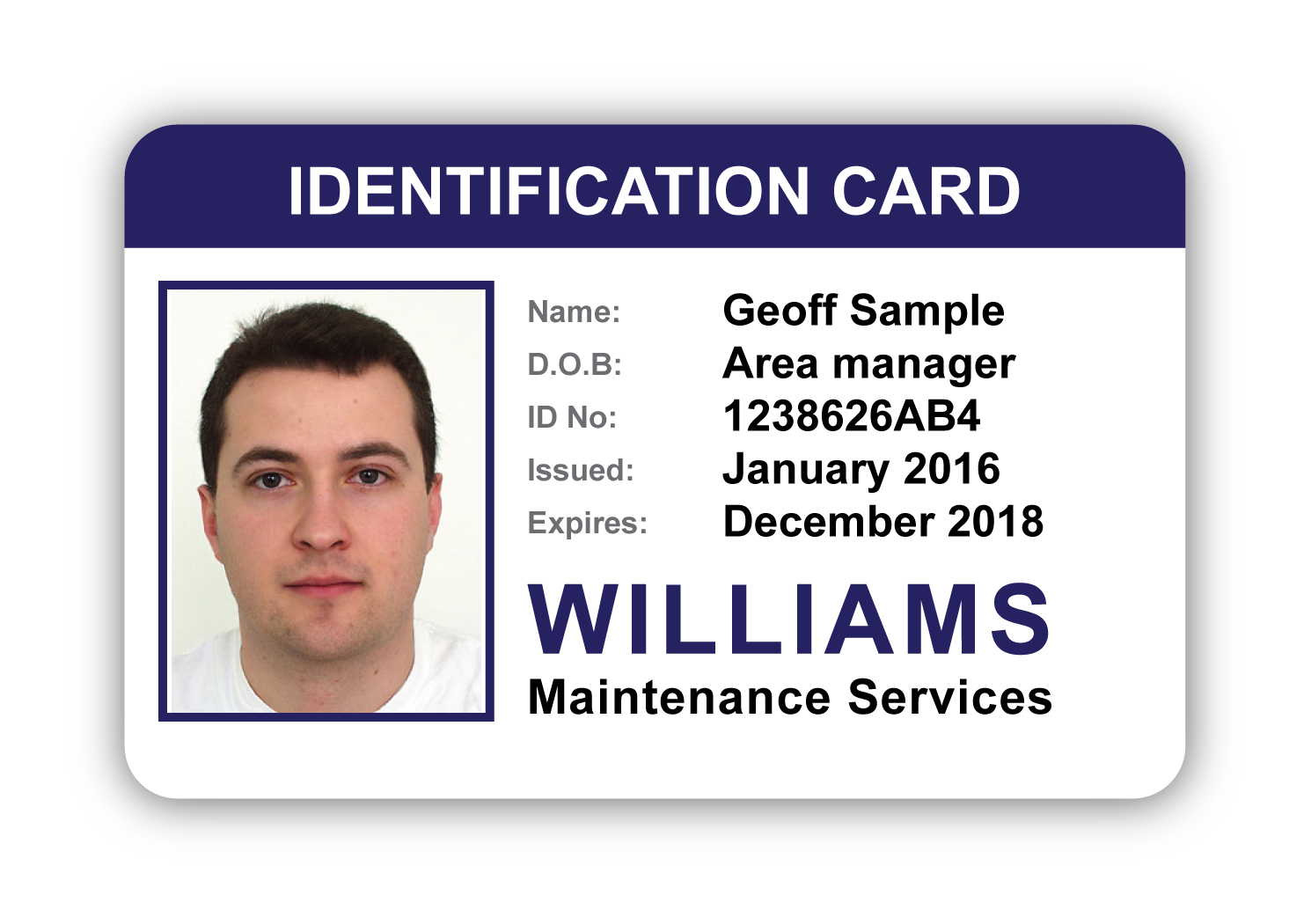 Sample Identification Badge Williams