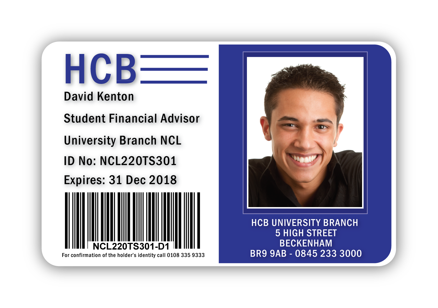 Sample HCB ID Card Design