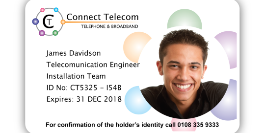 Connect Telecom Sample ID Card