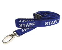 Blue STAFF printed Lanyard